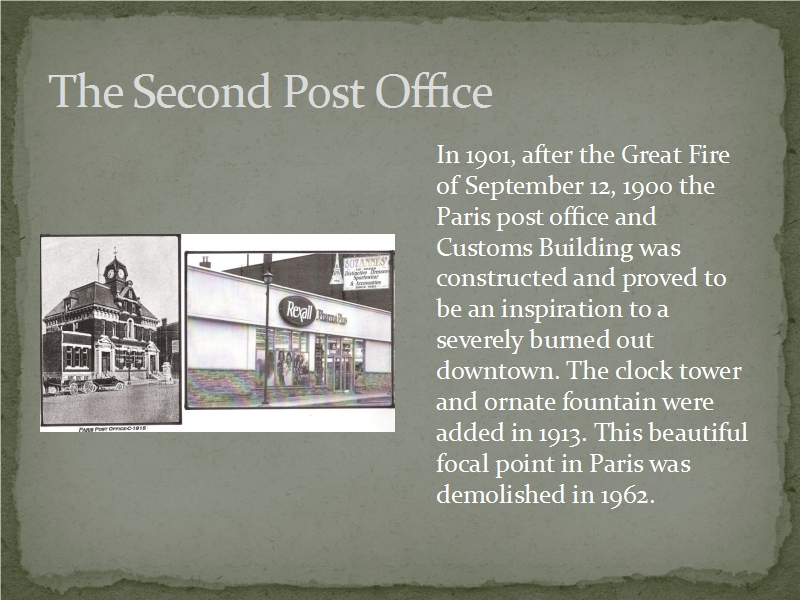 The Second Post Office